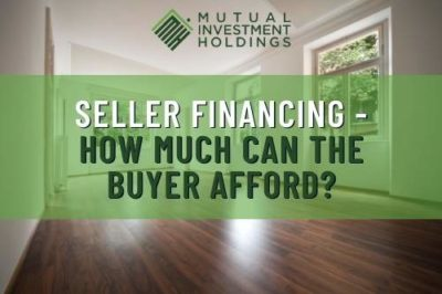 Seller Financing - How Much Can the Buyer Afford?